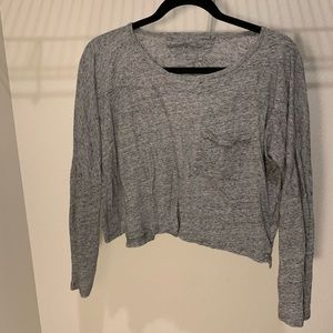 Madewell cropped long sleeve tee